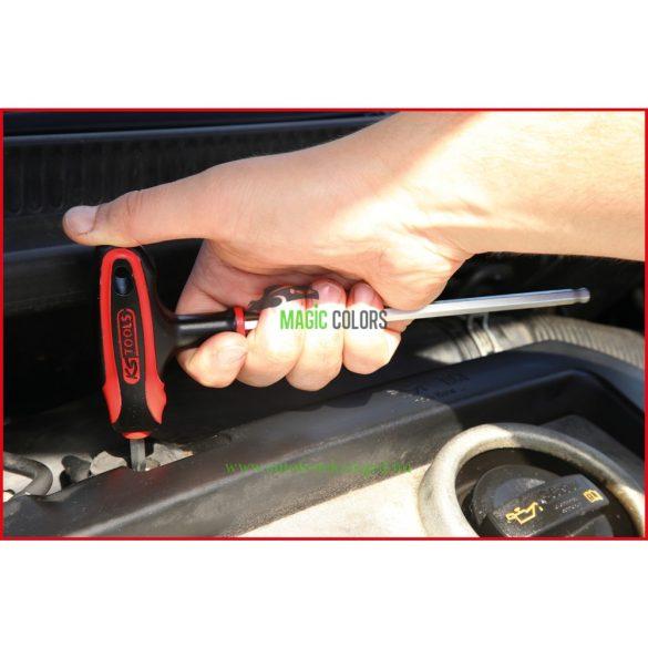 T-fogantyús belső hatlapú gömbfejű kulcs készlet, 8 részes
