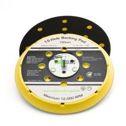 """FlexiPads® 6"""" 15 Lyukas VELCRO® Tépőzáras Csiszolópad (150mm)"""