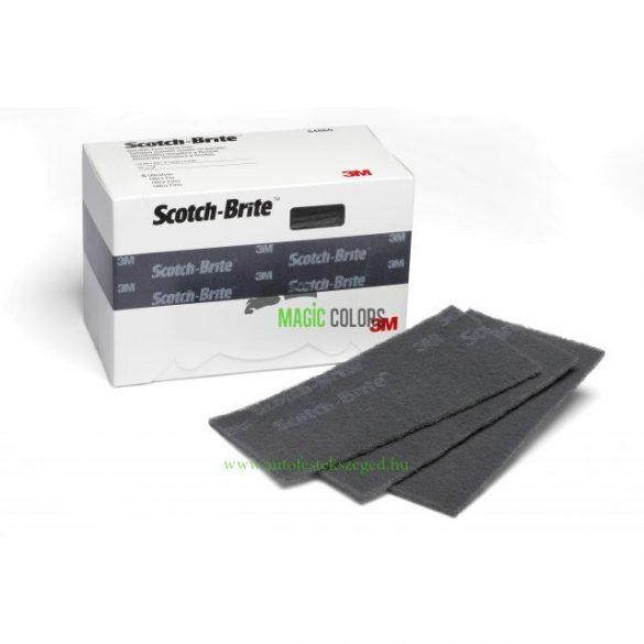 3M 64660 Scotch Brite tartós flexibilis csiszoló lapka P800 szürke 114 x 228mm