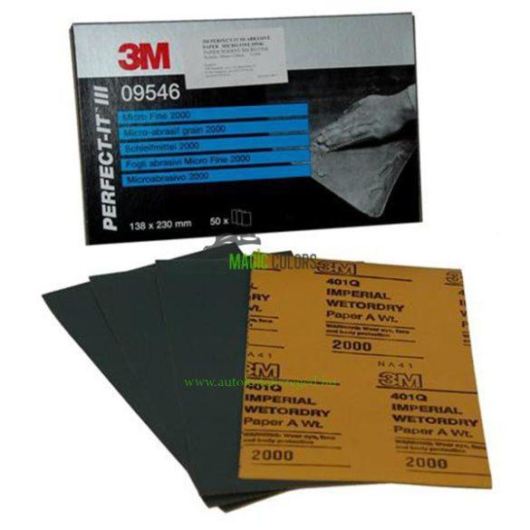 3M™ 09546 Perfect-It™ Csiszolópapír 138x230 mm (P2000)