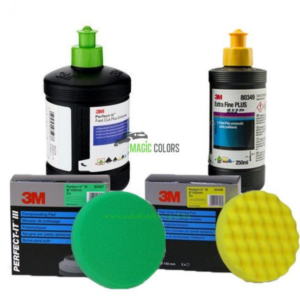 3M™ Polírszett - polírpaszta + Polírszivacs csomag - kis kiszerelés