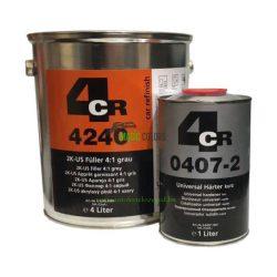4CR 4240 2K US Töltőalapozó 4:1 szürke  szett (4+1 L)