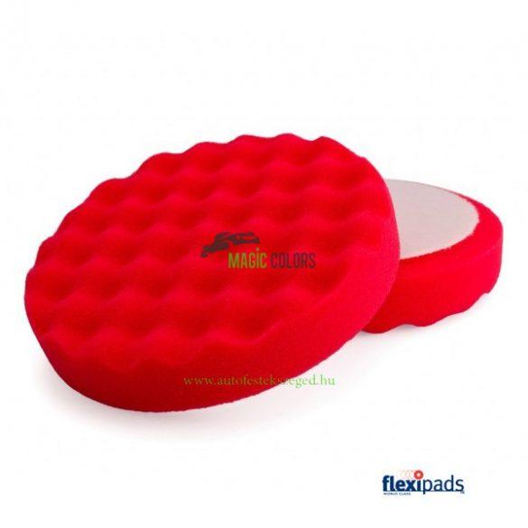 """FlexiPads® 6"""" Piros 'Tojástartó' Polírszivacs (150mm)"""