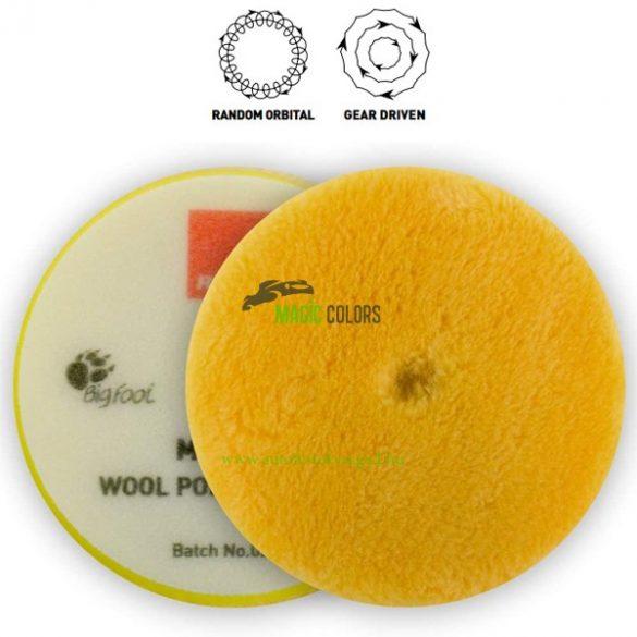 Rupes gyapjú korong 180mm (sárga-közepes) - LHR és Mille gépekhez