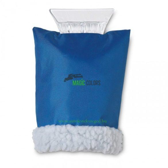 Jégkaparó műanyag, csúszásgátló szivacsos nyéllel