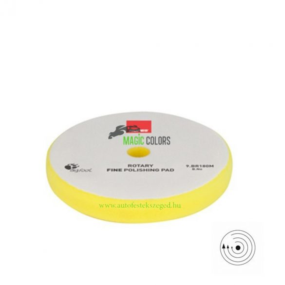 Rupes Finom Polírszivacs - Hagyományos gépekhez - Sárga (155/160mm)