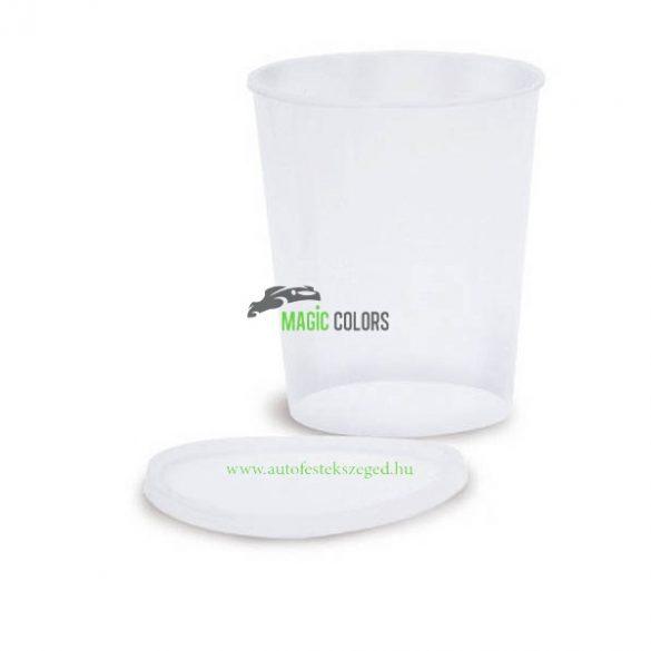 Corcos Műanyag Keverőedény Tetővel (0,5l)