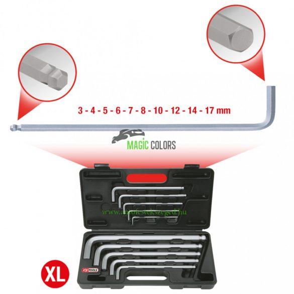 Gömbfejű belső hatlapú imbuszkulcs készlet, XL, 10 részes