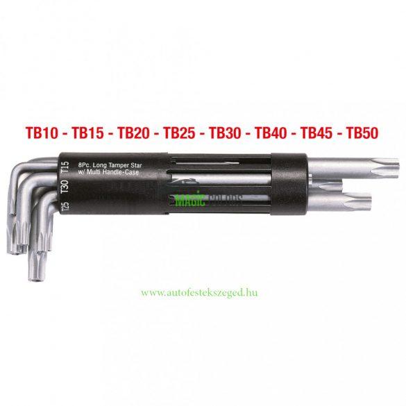 3 az 1-ben Torx L-imbuszkulcs készlet furattal,8 részes, hosszú
