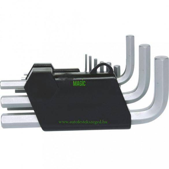 Belső hatlapú imbuszkulcs készletben, összecsukható tartóban, 9 részes, 1,5-10mm