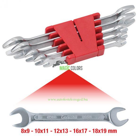 Kétoldalú villáskulcs készlet, 5 részes, 8-19mm