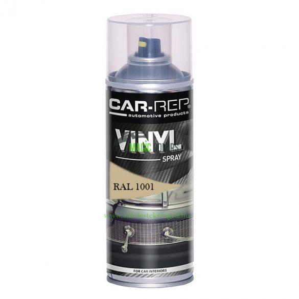 Car-Rep Bézs VINYL Műszerfal, Bőr, Textil Felújító Spray RAL1001 (400ML)