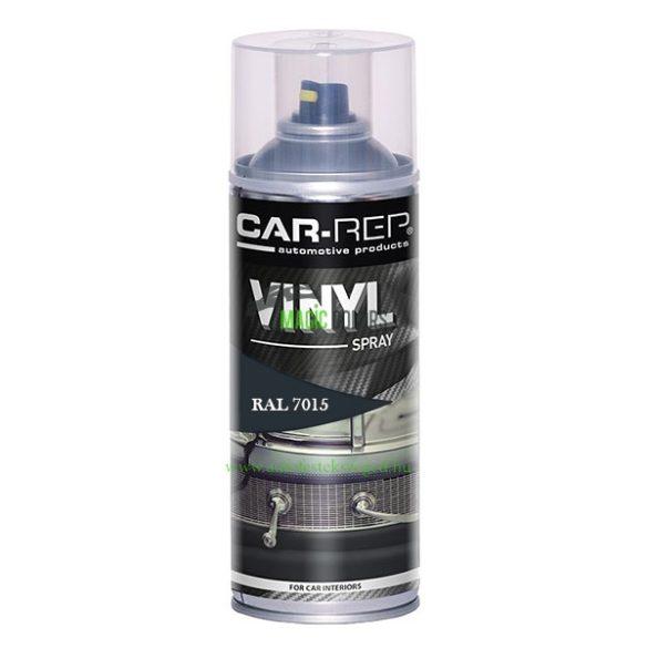 Car-Rep Antracit VINYL Műszerfal, Bőr, Textil Felújító Spray RAL7015 (400ML)