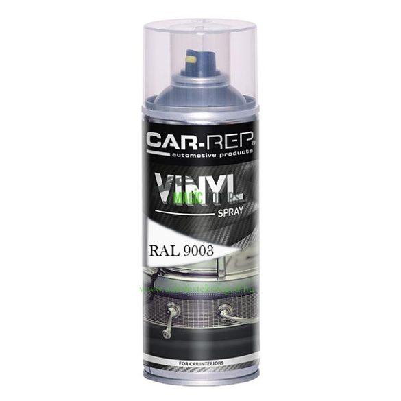 Car-Rep Fehér VINYL Műszerfal, Bőr, Textil Felújító Spray RAL9003 (400ML)