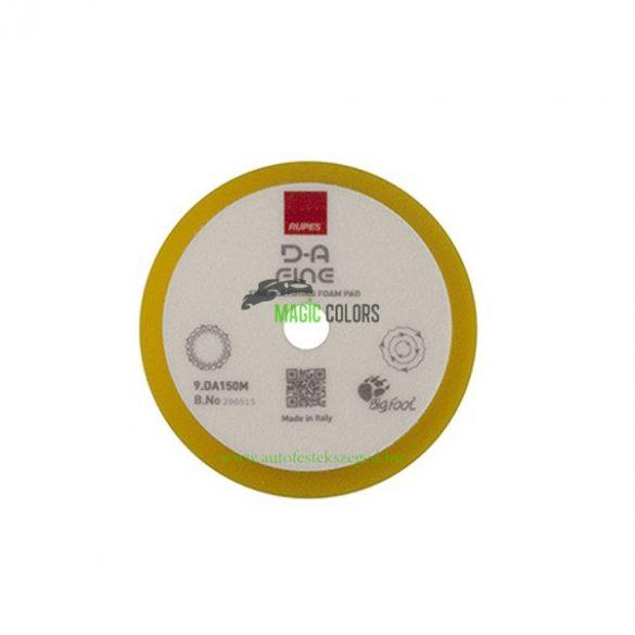 Rupes D-A finom polírszivacs 130/150mm (Sárga)